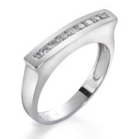 Fingerring 750/18 K Weissgold Diamant 0.18 ct