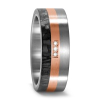 Partnerring Titan, 750/18 K Rotgold, Carbon Diamant 0.03 ct-545680