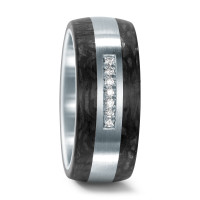 Partnerring Edelstahl, Carbon Diamant 0.10 ct-545712