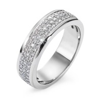 Fingerring 750/18 K Weissgold Diamant 0.75 ct