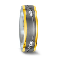 Partnerring Titan, 585/14 K Gelbgold Diamant 0.15 ct-557168