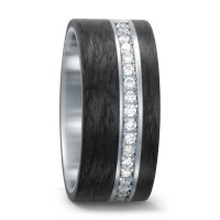 Partnerring Edelstahl, Carbon Diamant 0.30 ct-562386