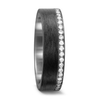 Partnerring 950 Palladium, Carbon Diamant 0.25 ct-562423