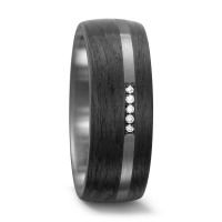 Partnerring Titan, Carbon Diamant 0.035 ct-562437