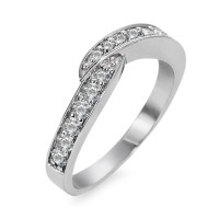 Fingerring 750/18 K Weissgold Diamant 0.415 ct
