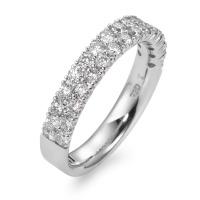 Fingerring 750/18 K Weissgold Diamant 0.84 ct