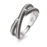 Fingerring 750/18 K Weissgold Diamant 0.23 ct