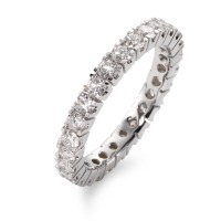 Memory Ring 750/18 K Weissgold Diamant 1.40 ct-563610