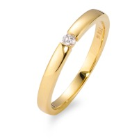 Solitär Ring 750/18 K Gelbgold Diamant 0.05 ct-565949