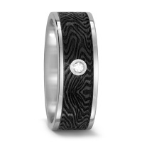 Partnerring Titan, Carbon Diamant 0.03 ct