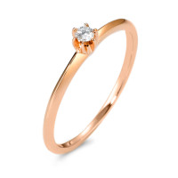 Solitär Ring 585/14 K Rosegold Diamant 0.05 ct-570599