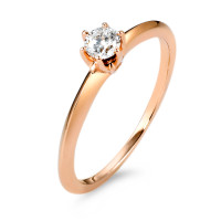 Solitär Ring 585/14 K Rosegold Diamant 0.20 ct-570602