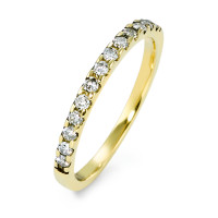 Memory Ring 585/14 K Gelbgold Diamant 0.25 ct-570604