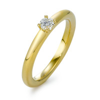 Solitär Ring 750/18 K Gelbgold Diamant 0.20 ct-570845