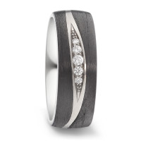 Partnerring Titan, Carbon Diamant 0.09 ct