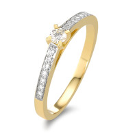 Fingerring 750/18 K Gelbgold Diamant 0.17 ct