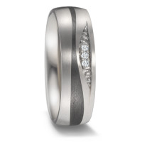 Partnerring Titan, Carbon Diamant 0.03 ct-584839
