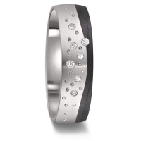 Partnerring Titan, Carbon Diamant 0.043 ct-589090