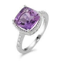 Fingerring 750/18 K Weissgold Amethyst Ø11 mm