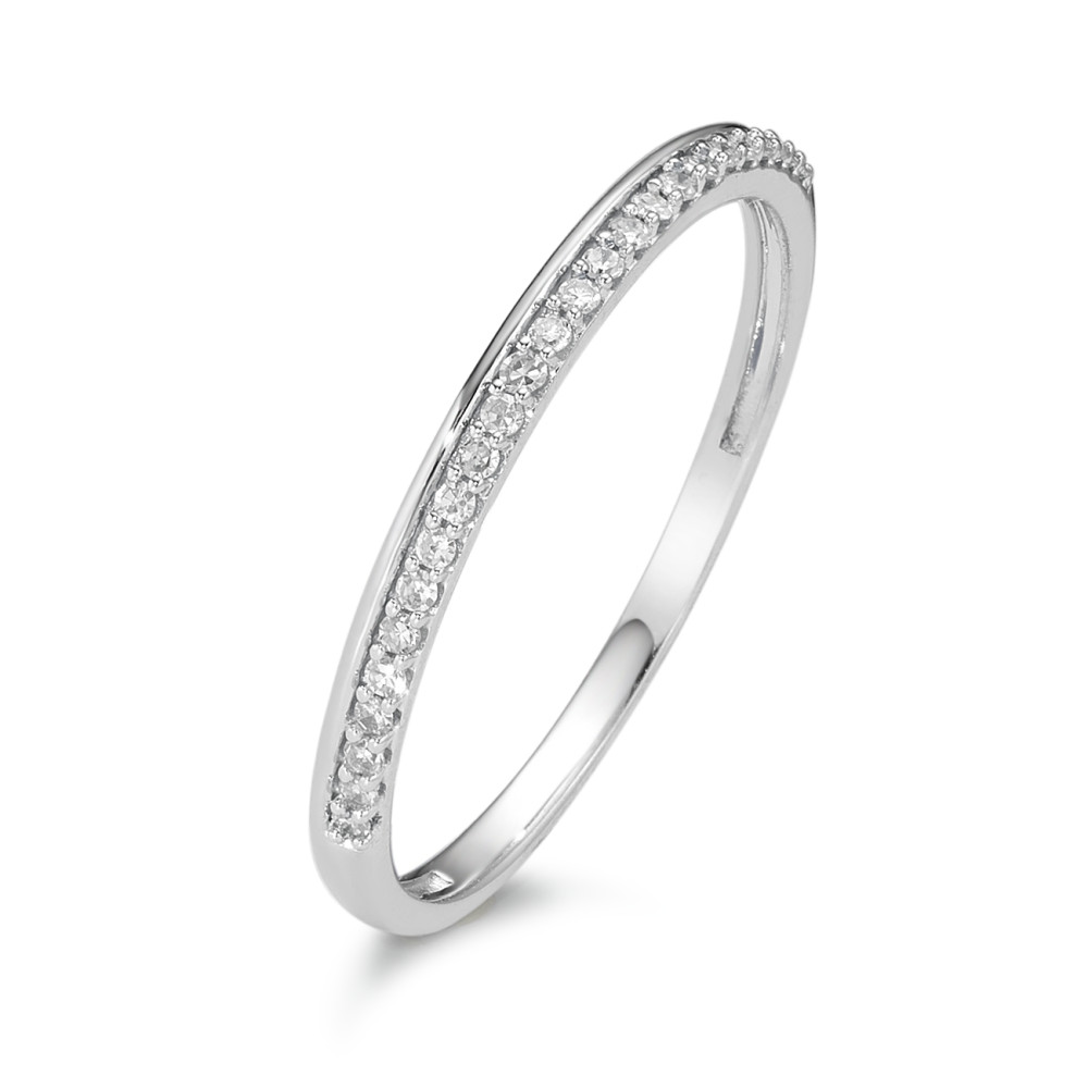 Memory Ring 750/18 K Weissgold Diamant 0.10 ct-589825